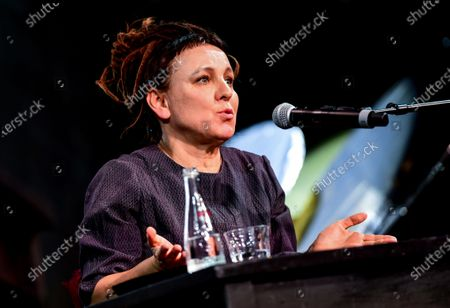 Literature Nobel Prize Laureate Olga Tokarczuk of Poland speaks during the opening of the 20th Literature Festival in Berlin, Germany, 09 September 2020. The Literature Festival is running from 09 to 19 September 2020.