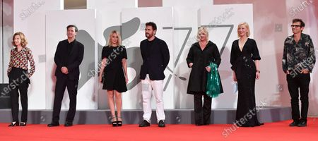 Members of the 'Venezia 77' jury  Joanna Hogg, Christian Petzold, Ludivine Sagnier, Matt Dillon, Veronika Franz, Cate Blanchett and Nicola Lagioia attend for the premiere of 'Spy No Tsuma (Wife of a Spy) ' during the 77th annual Venice International Film Festival, in Venice, Italy, 09 September 2020.  The movie is presented in Official Competition 'Venezia77' at the festival running from 02 September to 12 September.