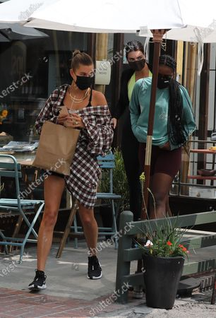 Kendall Jenner and Hailey Bieber seen out for lunch in West Hollywood