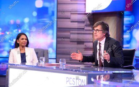 Gina Miller and Robert Peston