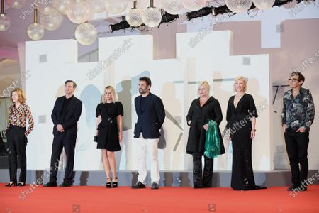 Stock Image of The jury : Joanna Hogg, Christian Petzold, Ludivine Sagnier, Matt Dillon, Veronika Franz, President Cate Blanchett, Nicola Lagioia