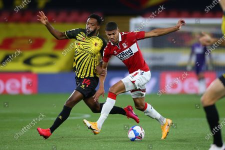 Boro' Ashley Fletcher makes ground.