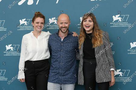 The director Julia von Heinz, the producer Fabian Gasmia, Mala Emde