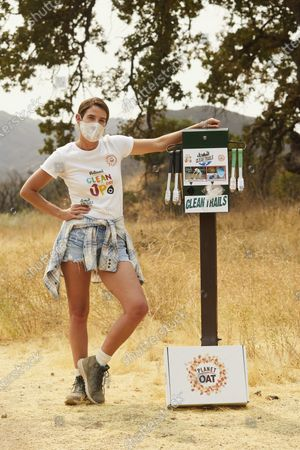 Editorial picture of Cobie Smulders and Planet Oat celebrate the launch of the Planet Oat Project, Calabasas, United States - 09 Sep 2020