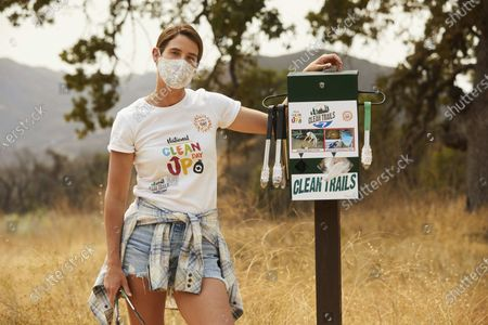 Editorial image of Cobie Smulders and Planet Oat celebrate the launch of the Planet Oat Project, Calabasas, United States - 09 Sep 2020