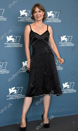 Radha Mitchell poses at a photocall for 'Run Hide Fight' during the 77th annual Venice International Film Festival, in Venice, Italy, 10 September 2020. The movie is presented out of Competition at the festival running from 02 September to 12 September. The event is the first major in-person film fest to be held in the wake of the Covid-19 coronavirus pandemic. Attendees have to follow strict safety measures like mandatory face masks indoors, temperature scanners, and socially distanced screenings to reduce the risk of infection. The public is barred from the red carpet, and big stars are expected to be largely absent this year. The 77th edition of the festival runs from 02 to 12 September 2020.