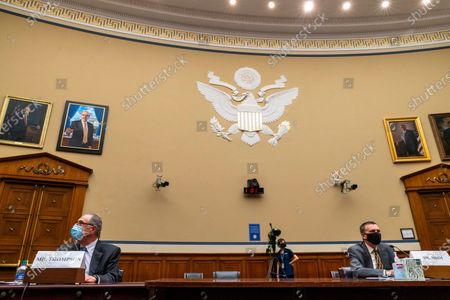 John Thompson, former director of the Census Bureau, left, and J. Christopher Mihm, managing director of the Strategic Issues Team of the Government Accountability Office, testify before a House Oversight and Reform Committee hearing on the 2020 Census, on Capitol Hill in Washington