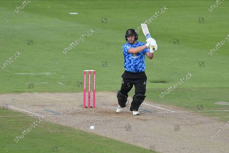 Luke Wright of Sussex batting during the Vitality T20 Blast South Group match between Hampshire County Cricket Club and Sussex County Cricket Club at the Ageas Bowl, Southampton