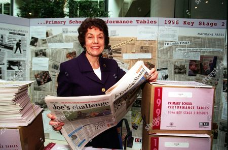 Education Secretary Gillian Shephard (now Baroness Shephard Of Northwold) And School Results