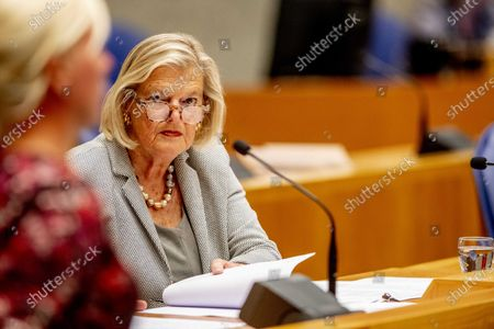 Stock Photo of State Secretary Ankie Broekers-Knol of Justice and Security during a debate in the House of Representatives in The Hague, The Netherlands, 10 September 2020, about the fire in the Moria refugee camp on the Greek island of Lesbos.