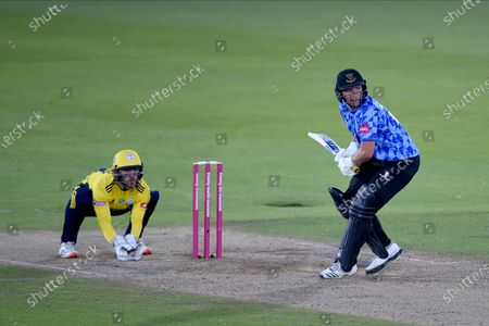 Stock Photo of Luke Wright of Sussex Sharks batting