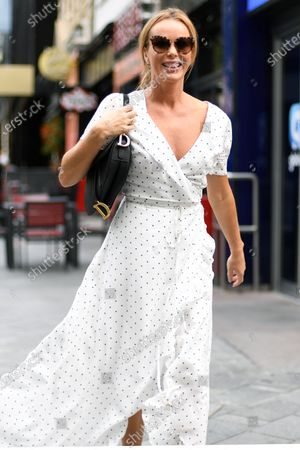 Amanda Holden departs the Global Radio Studios