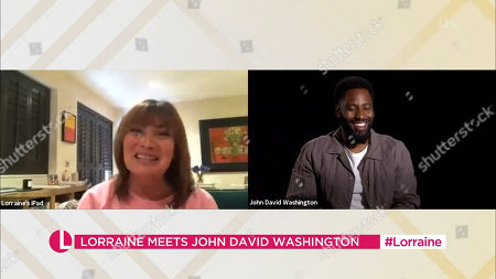 Lorraine Kelly and John David Washington