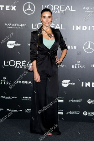 Editorial picture of Devota y Lomba show, Arrivals, Spring Summer 2021, Mercedes Benz Fashion Week, Madrid, Spain - 10 Sep 2020