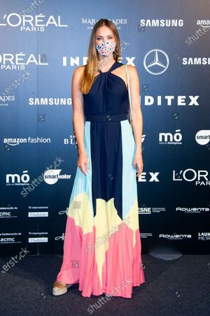 Stock Picture of Spanish model Helen Lindes, wife of the basketball player Rudy Fernandez
