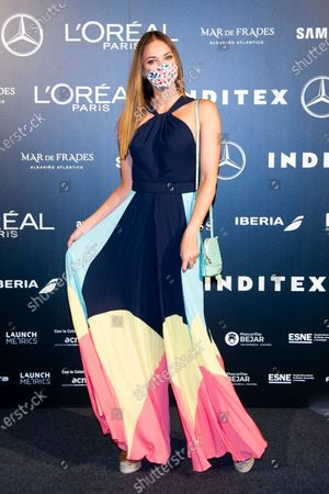 Spanish model Helen Lindes, wife of the basketball player Rudy Fernandez