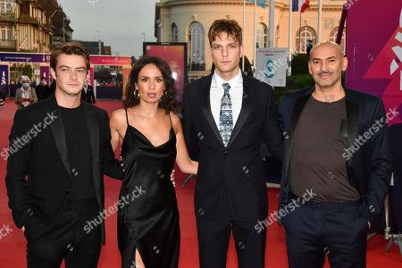 Stock Image of Felix Kysyl, Amelle Chahbi, Lucas Belvaux, Yoann Zimmer and Farid Larbi