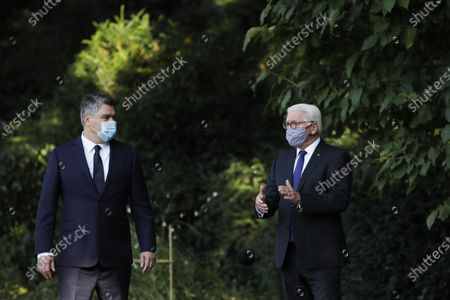 German President Frank-Walter Steinmeier (R) and Croatian President Zoran Milanovic (L) during a meeting at the Bellevue Palace in Berlin, Germany, 11 September 2020. Croatian President Zoran Milanovic is on a one-day state visit to Germany.