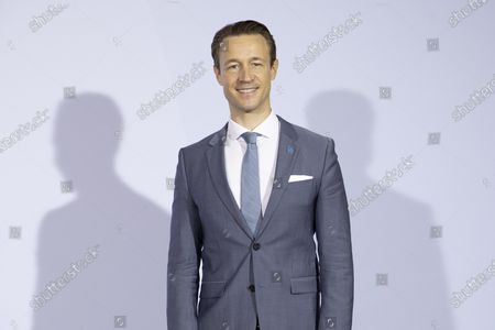 Austria's Finance Minister Gernot Bluemel stands prior to an informal meeting of European Union ministers for economic and financial affairs on September 11, 2020 in Berlin, Germany.