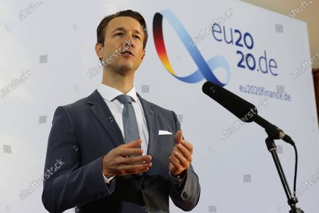 Finance Minister of Austria Gernot Bluemel attends the Informal Meeting of EU Ministers for Economic and Financial Affairs at the InterContinental Hotel Berlin, in Berlin, Germany, 11 September 2020. The meeting runs from 11 to 12 September.