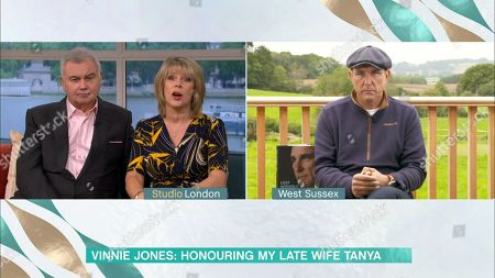Stock Image of Eamonn Holmes, Ruth Langsford and Vinnie Jones