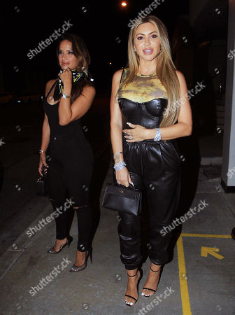 Rocsi Diaz and Larsa Pippen are seen on a night out.