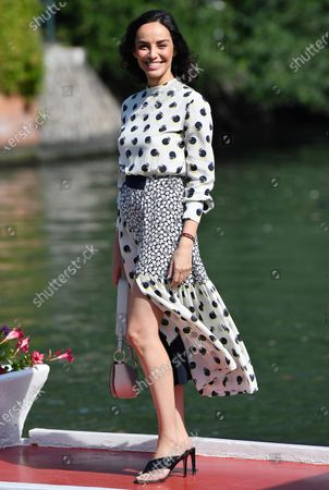 Stock Picture of Elena Cucci arrives at Lido Beach for the 77th annual Venice International Film Festival, in Venice, Italy, 11 September 2020. The event is the first major in-person film fest to be held in the wake of the Covid-19 coronavirus pandemic. Attendees have to follow strict safety measures like mandatory face masks indoors, temperature scanners, and socially distanced screenings to reduce the risk of infection. The public is barred from the red carpet, and big stars are expected to be largely absent this year. The 77th edition of the festival runs from 02 to 12 September 2020.