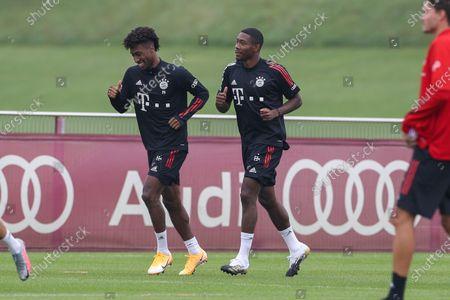 Kingsley Coman #29 (FC Bayern Muenchen), David Alaba #27 (FC Bayern Muenchen)
