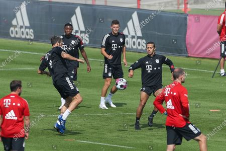 Javi Martinez #8 (FC Bayern Muenchen), Thiago Alcantara #6 (FC Bayern Muenchen), David Alaba #27 (FC Bayern Muenchen), Benjamin Pavard #5 (FC Bayern Muenchen)