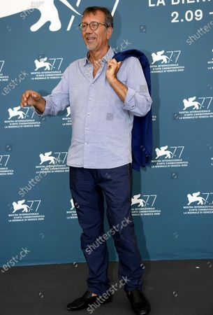 Italian filmmaker Giorgio Verdelli poses at a photocall for 'Paolo Conte, via con me' during the 77th annual Venice International Film Festival, in Venice, Italy, 11 September 2020. The movie is presented Out of Competition at the festival running from 02 September to 12 September.