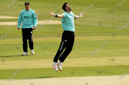 Reece Topley of Surrey appeals for the wicket of Adam Wheater during Essex Eagles vs Surrey, Vitality Blast T20 Cricket at The Cloudfm County Ground on 11th September 2020