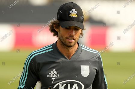 Stock Photo of Ben Foakes of Surrey leaves the field following the warm up prior to Essex Eagles vs Surrey, Vitality Blast T20 Cricket at The Cloudfm County Ground on 11th September 2020