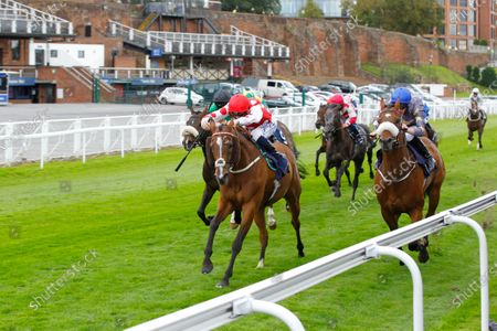 Stock Picture of Sir Maximilian and David Probert win the Please Support The Injured Jockey's Fund Handicap at Chester from Gabrial The Devil.
