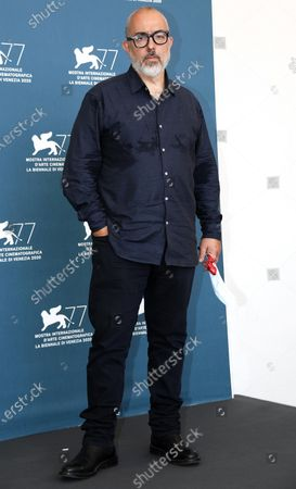 Alex de la Iglesia poses at a photocall for '30 Coins (30 Monedas) -Episode 1' during the 77th annual Venice International Film Festival, in Venice, Italy, 11 September 2020. The movie is presented out of Competition-Special Screenings at the festival running from 02 September to 12 September.