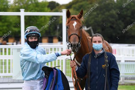 Editorial picture of Behind Closed Doors Race Meeting, Horse Racing, Salisbury Racecourse, Wiltshire, United Kingdom - 11 Sep 2020
