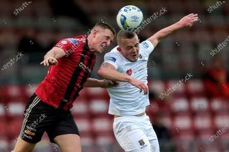 Bohemians vs Waterford. Bohemians' Dan Casey and Michael O'Connor of Waterford