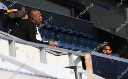 Les Ferdinand - QPR Director of Football (L) &  Amit Bhatia - QPR Chairman (R)