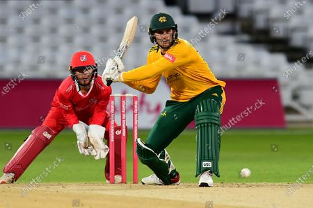 Alex Hales of Nottinghamshire during the Vitality T20 Blast North Group match between Nottinghamshire County Cricket Club and Lancashire County Cricket Club at Trent Bridge, Nottingham