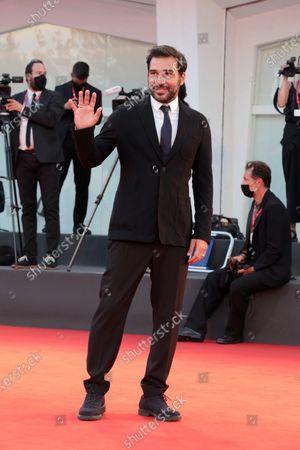 "Stock Photo of Edoardo Leo walks the red carpet ahead of the movie ""Nuevo Orden"" (New Order) at the 77th Venice Film Festival"
