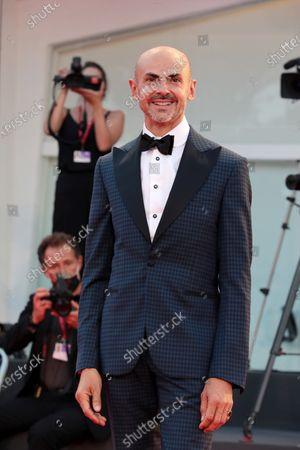 "Enzo Miccio walks the red carpet ahead of the movie ""Nuevo Orden"" (New Order) at the 77th Venice Film Festival"