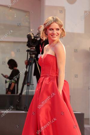 "Ariadna Romero walks the red carpet ahead of the movie ""Nuevo Orden"" (New Order) at the 77th Venice Film Festival"