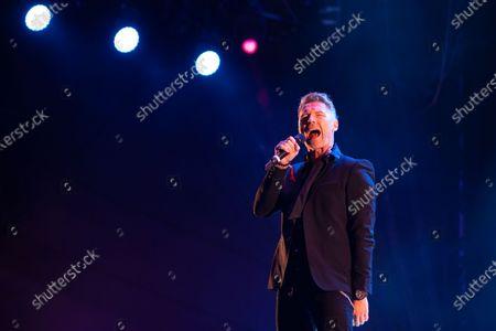 Ronan Keating plays a socially distanced gig at Virgin Money Unity Arena