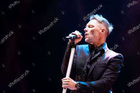 Stock Image of Ronan Keating plays a socially distanced gig at Virgin Money Unity Arena