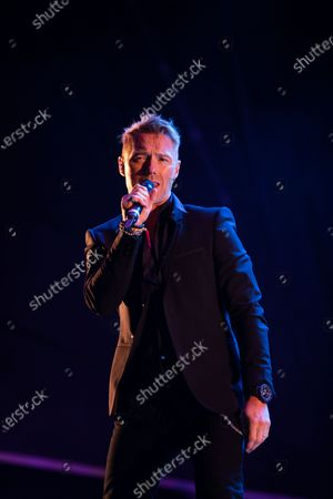 Stock Photo of Ronan Keating plays a socially distanced gig at Virgin Money Unity Arena