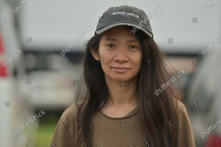 "Chloe Zhao attends the Telluride from Los Angeles drive-in screening of ""Nomadland"", at the Rose Bowl in Pasadena, Calif"