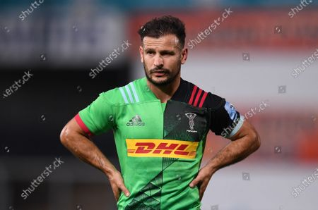 Danny Care of Harlequins watches play take shape; Kingsholm Stadium, Gloucester, Gloucestershire, England; English Premiership Rugby, Gloucester versus Harlequins.