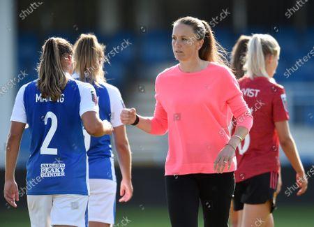 Editorial image of Birmingham City Ladies v Manchester United Ladies, The FA Women's Super League, Football, Damson Park, Solihull, UK - 13 Sep 2020