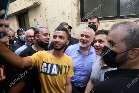 Editorial photo of A picture taken on September 6, 2020. Hamas' political bureau chief Ismail Haniya visits the Ain al-Hilweh refugee camp, Ain al-Hilweh, Beirut, Lebanon - 06 Sep 2020