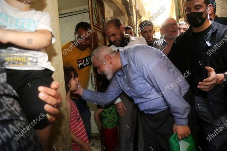 Stock Photo of A picture taken on September 6, 2020. Hamas' political bureau chief Ismail Haniya visits the Ain al-Hilweh refugee camp, south Lebanon.
