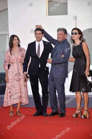 Stock Image of Maria Castellitto, Pietro Castellitto, Sergio Castellitto and Margaret Mazzantini